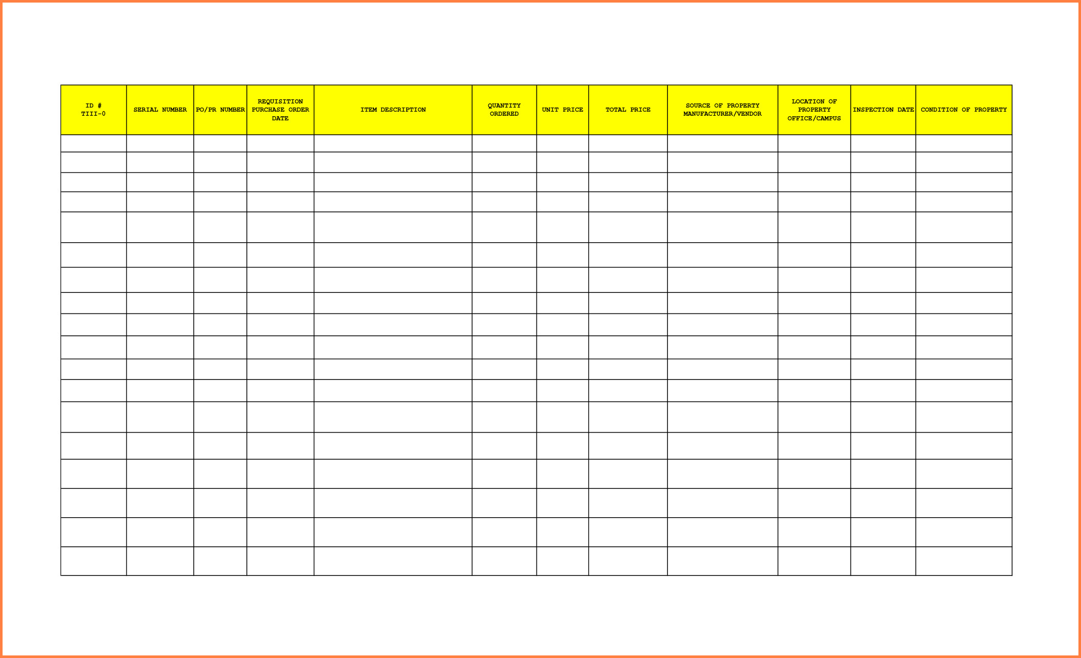 Office Supplies Inventory Template 8 Office Supplies Inventory Spreadsheet