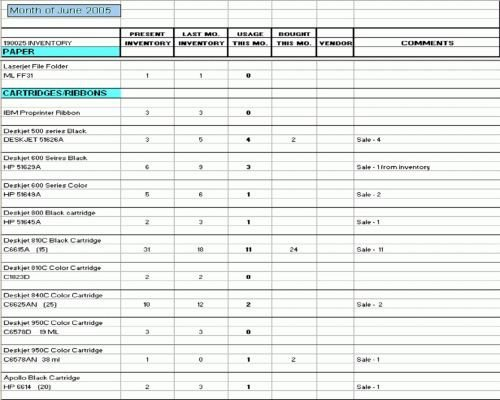 Office Supplies Inventory Template How to Keep An Inventory Of Office Supplies