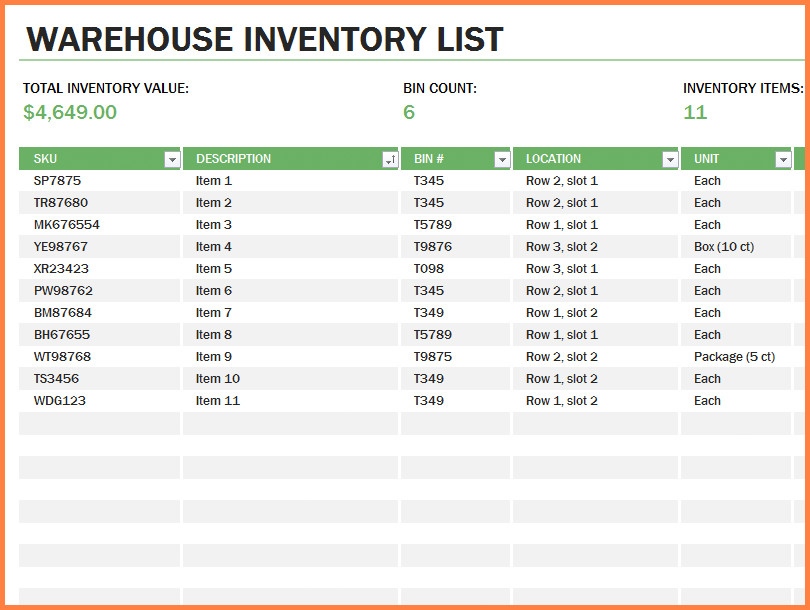 Office Supply Checklist Template Excel 10 Office Supply Spreadsheet