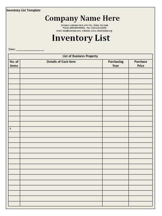 Office Supply Checklist Template Excel Fice Supplies Inventory Template