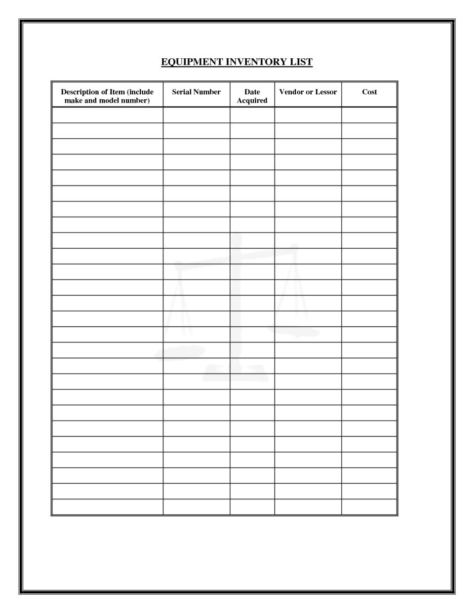 Office Supply Checklist Template Excel Fice Supply Inventory List Template