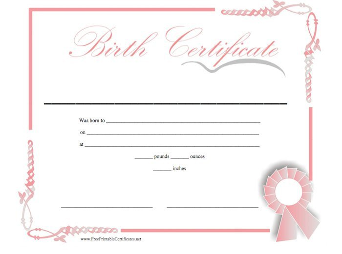 Official Birth Certificate Template 15 Birth Certificate Templates Word & Pdf Template Lab