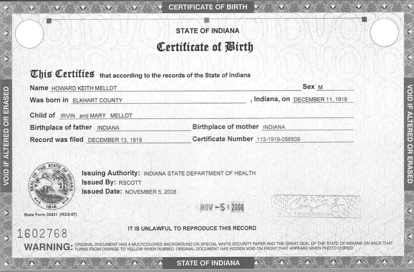 Official Birth Certificate Template 5 Birth Certificate Templates Excel Pdf formats