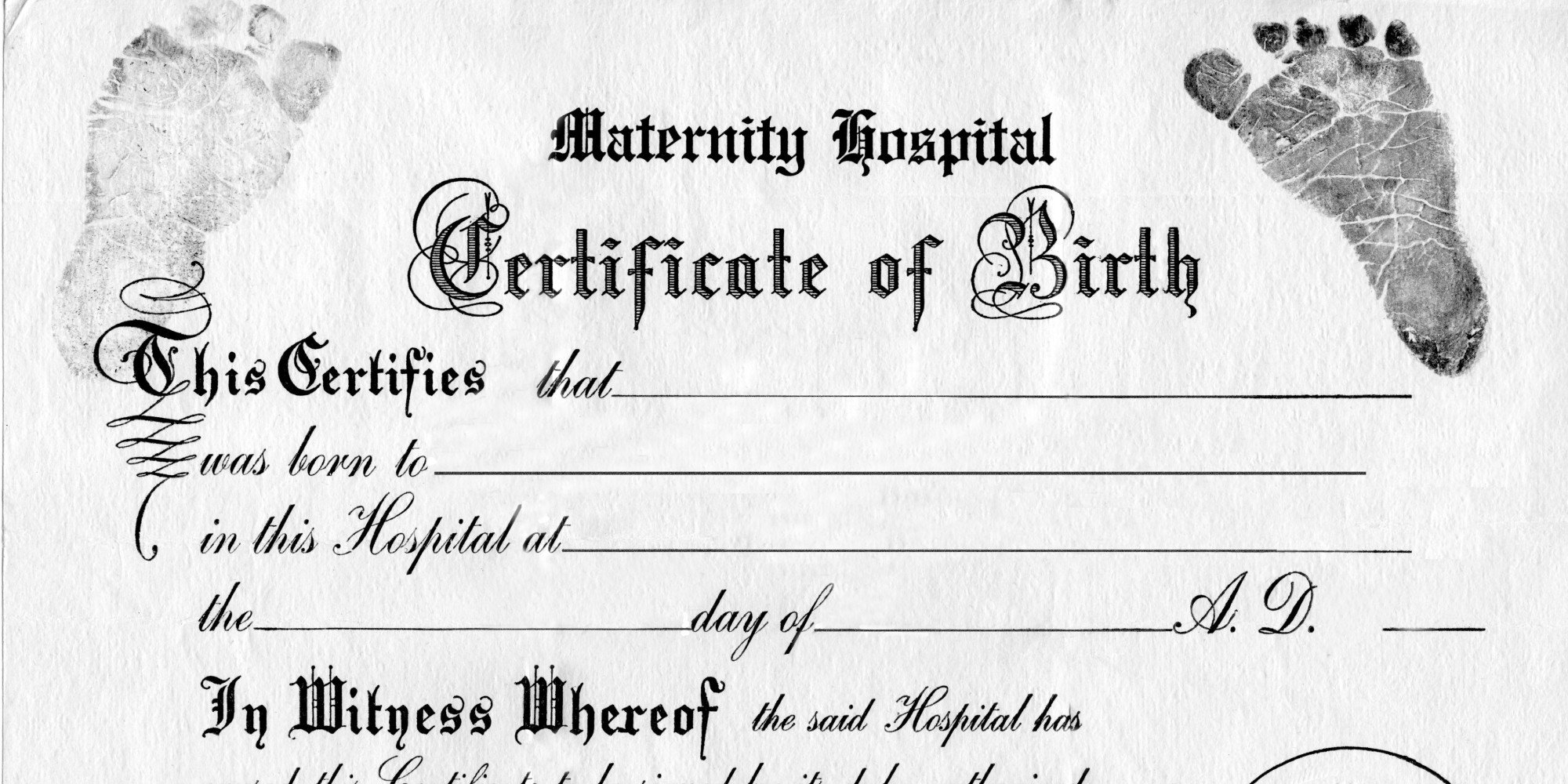 Old Birth Certificate Template Does Gender No Longer Work Birth Certificates