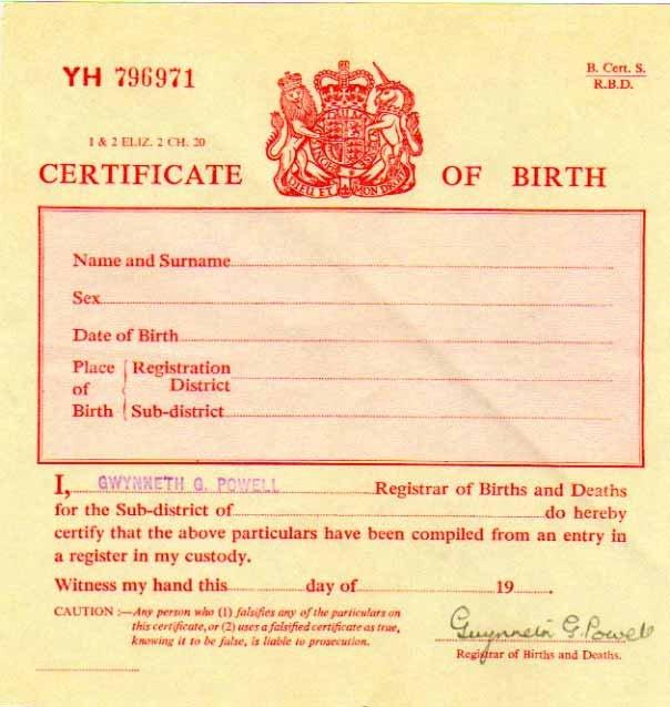 Old Birth Certificate Template Uk Birth Certificate – Secureidentity