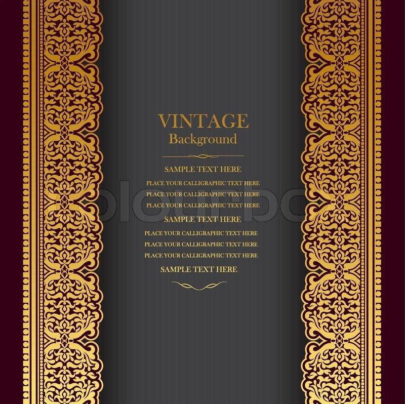 Old Book Cover Template Vintage Background Design Elegant