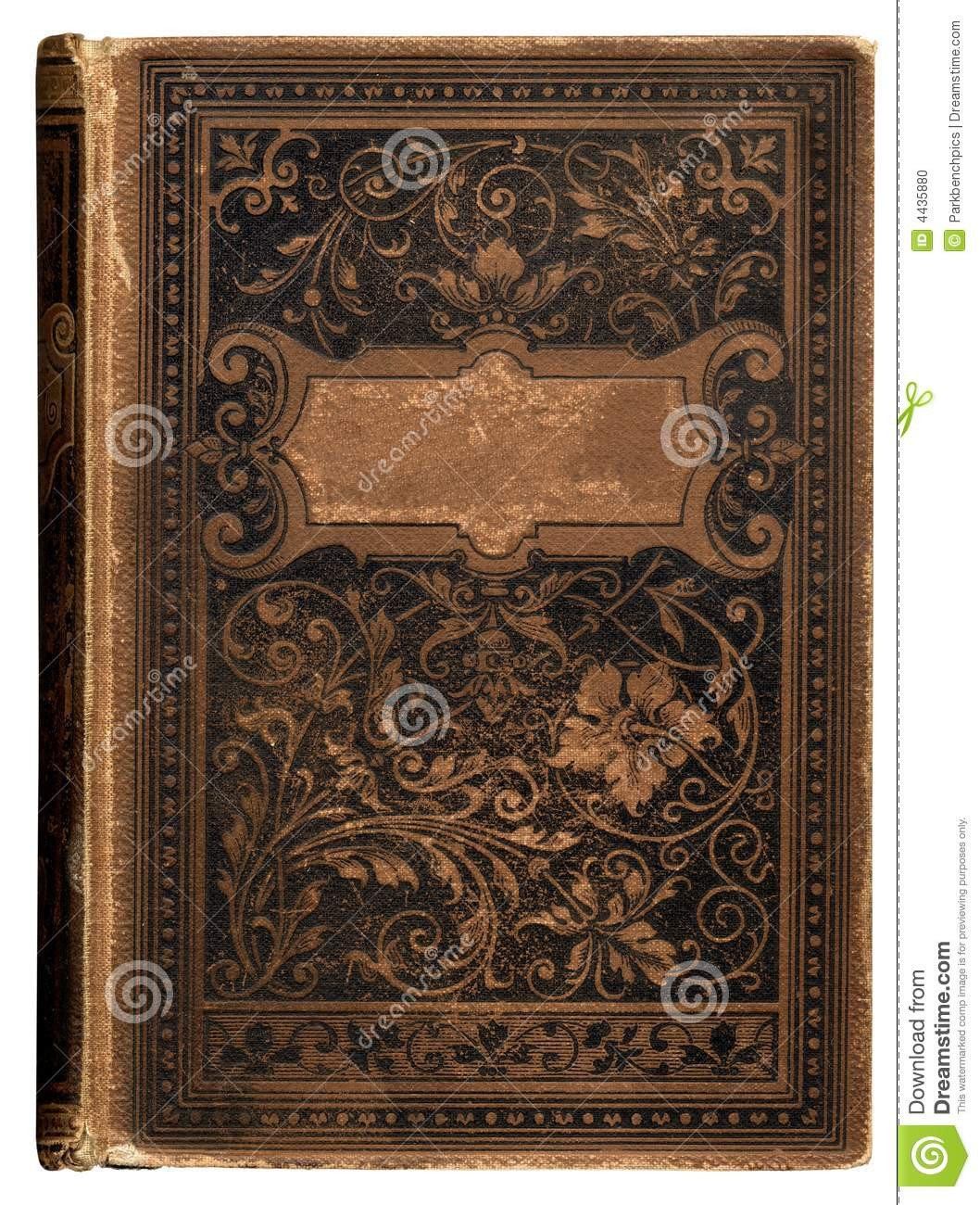 Old Book Cover Template Vintage Bookcover Stock Photo Image Of Flourishes