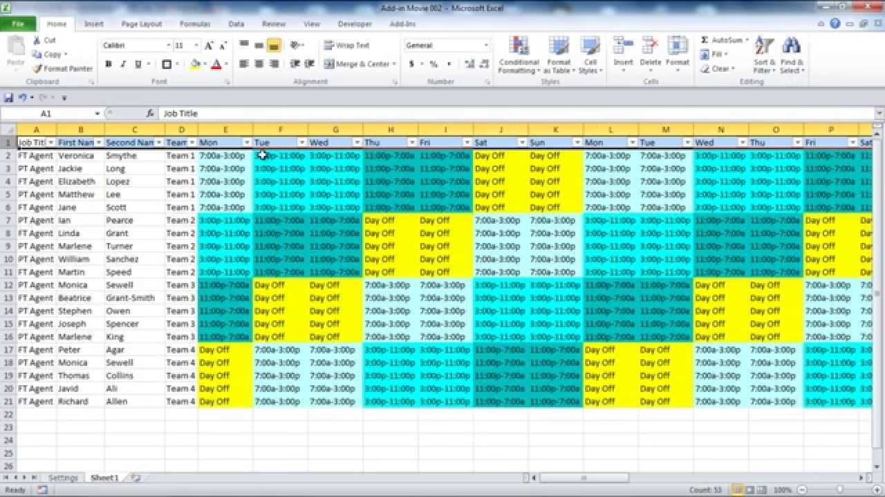 On Call Schedule Template Call Schedule Template Excel