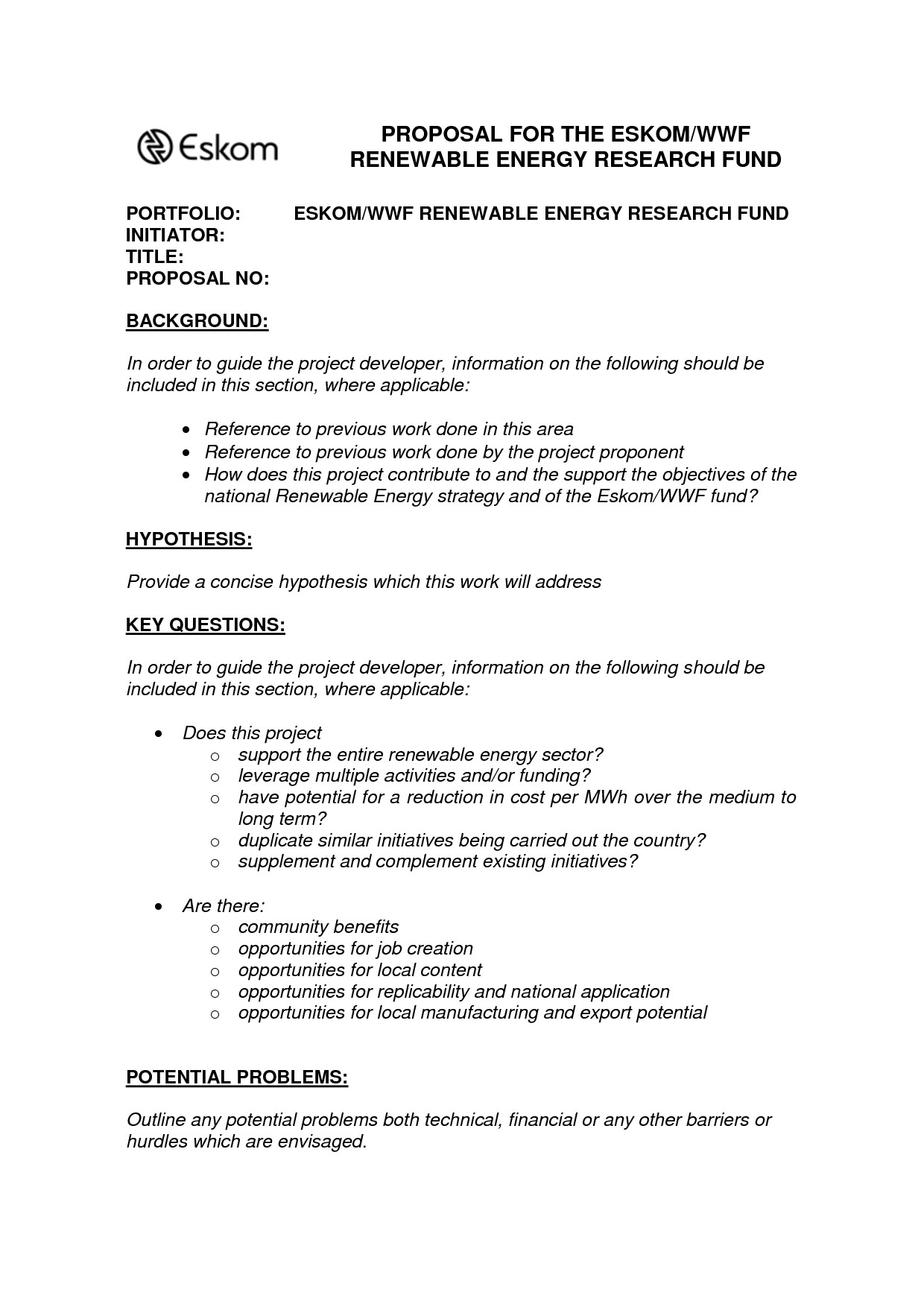 One Page Proposal Template Doc Best S Of Example A 1 Page Proposal E Page