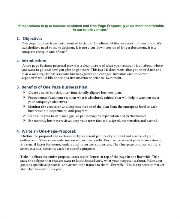 One Page Proposal Template Doc Business Proposal Template 35 Free Word Pdf Psd