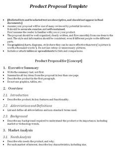 One Page Proposal Template Doc E Page Proposal Template and Template
