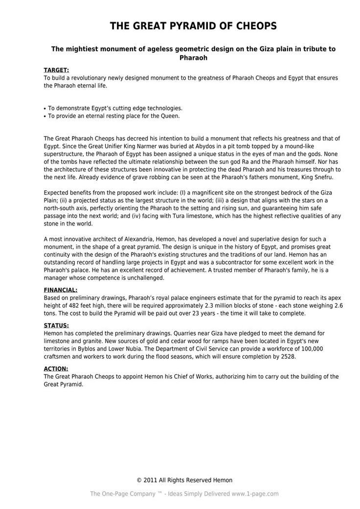 One Page Proposal Template Doc How the 1 Page Job Proposal tool Works
