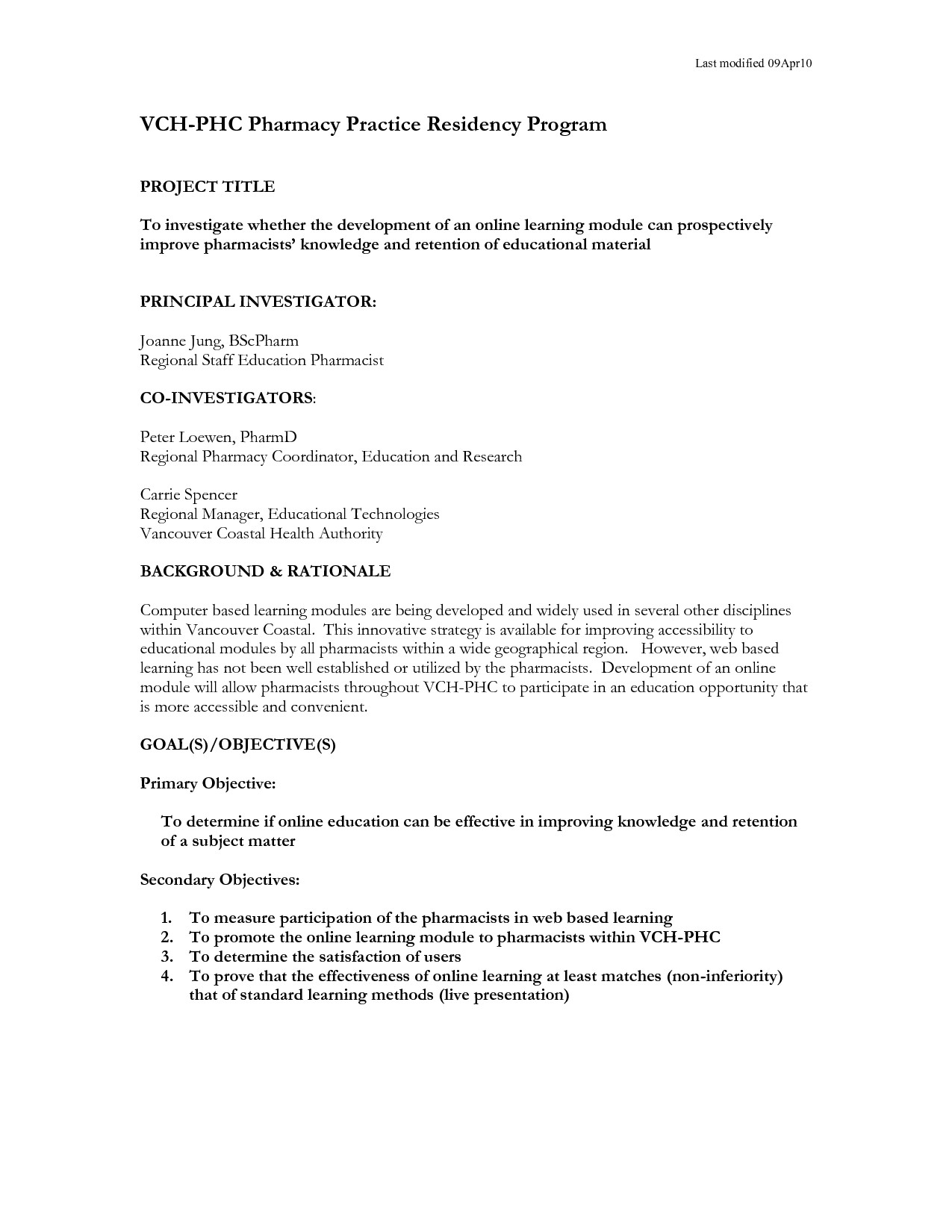 One Page Proposal Template Doc Research Proposal How to Write One