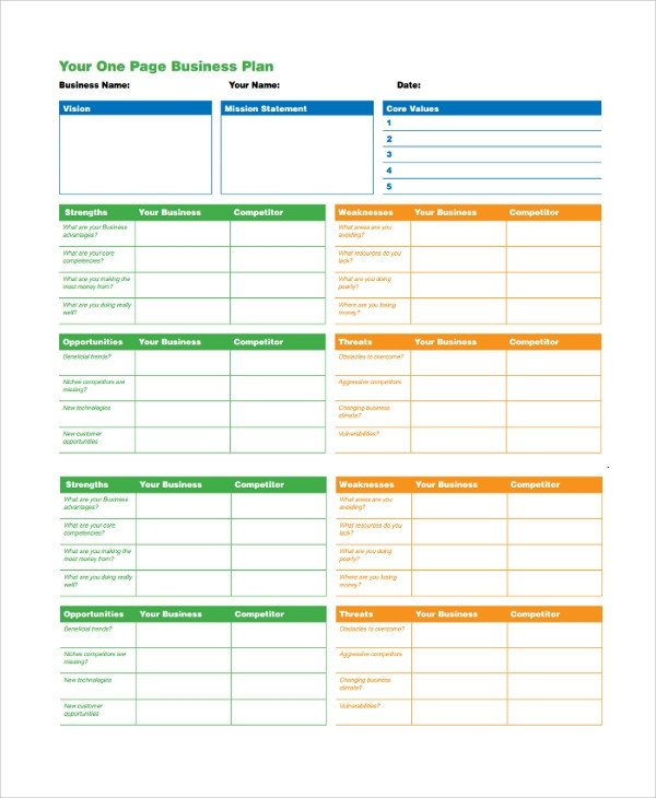 One Page Proposal Template Doc Sample Business Plan 41 Documents In Pdf Google Docs