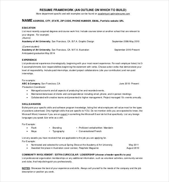 One Page Resume Template 41 E Page Resume Templates Free Samples Examples