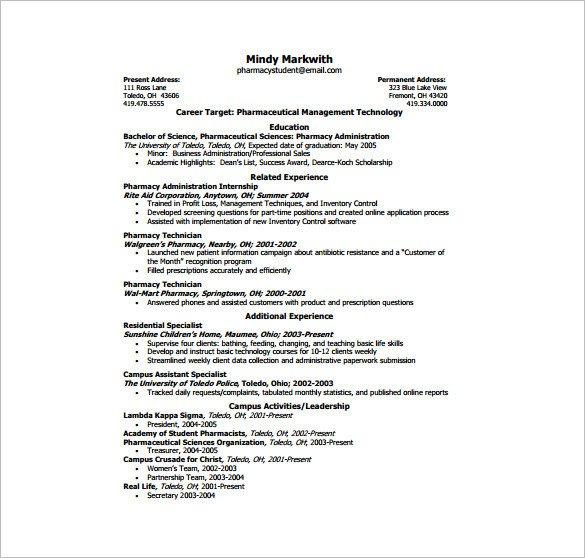 One Page Resume Template E Page Resume Template 12 Free Word Excel Pdf