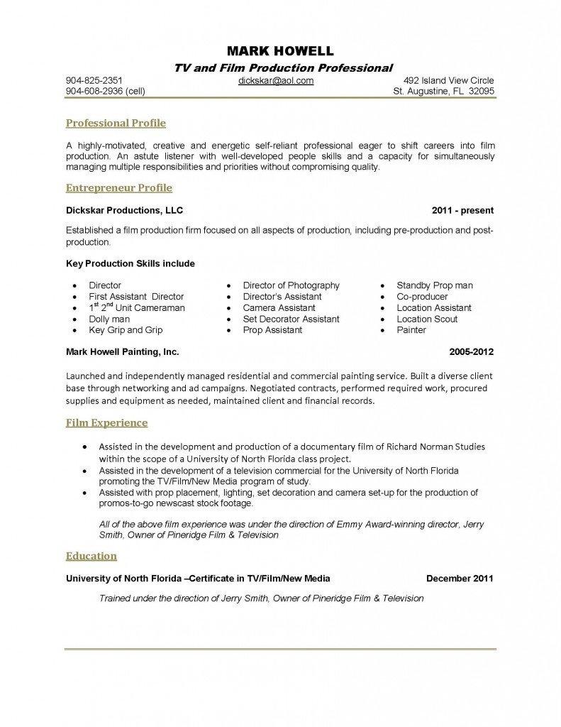 One Page Resume Template E Page Resume Template