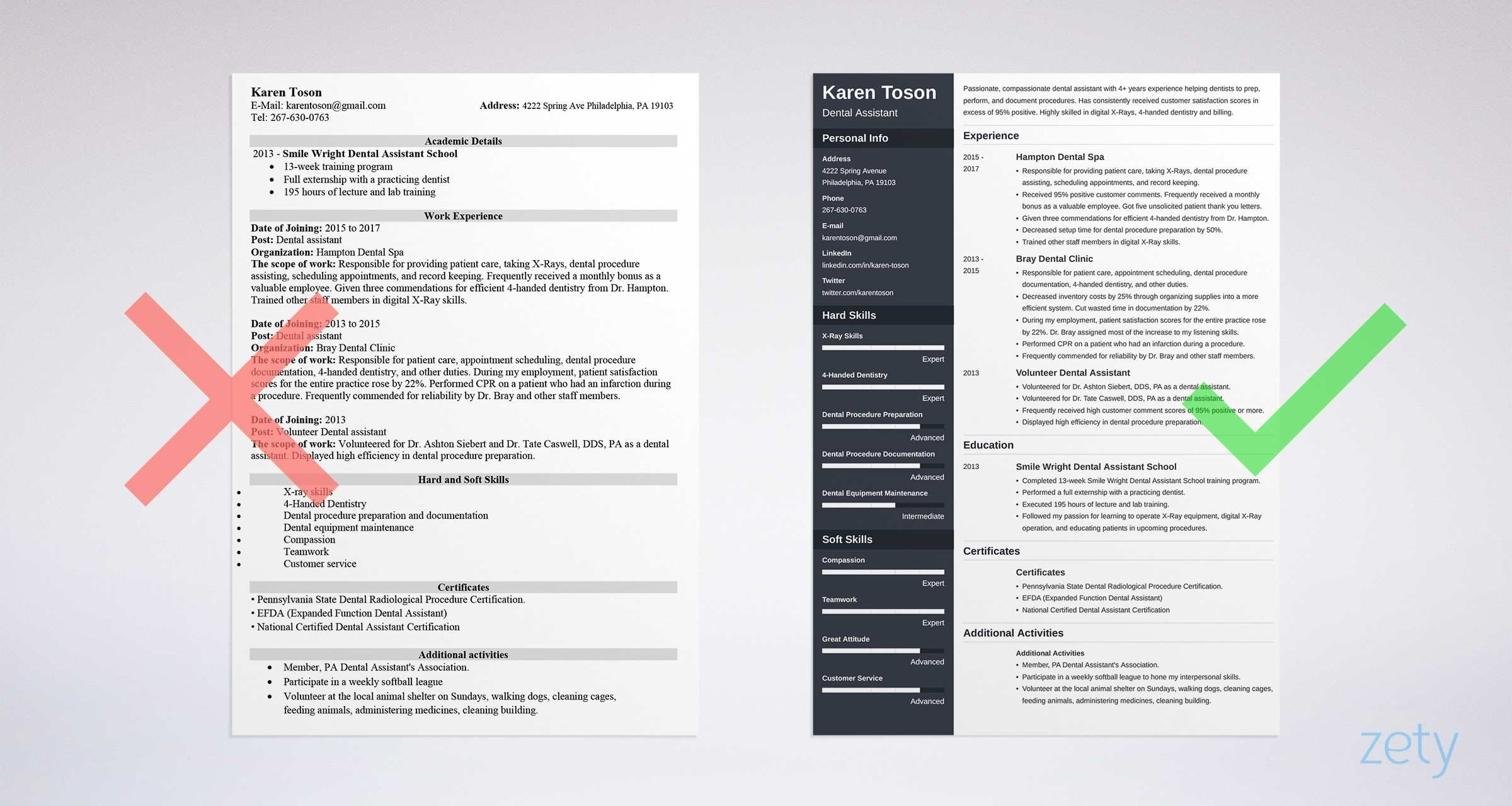 One Page Resume Template E Page Resume Templates 15 Examples to Download and Use now