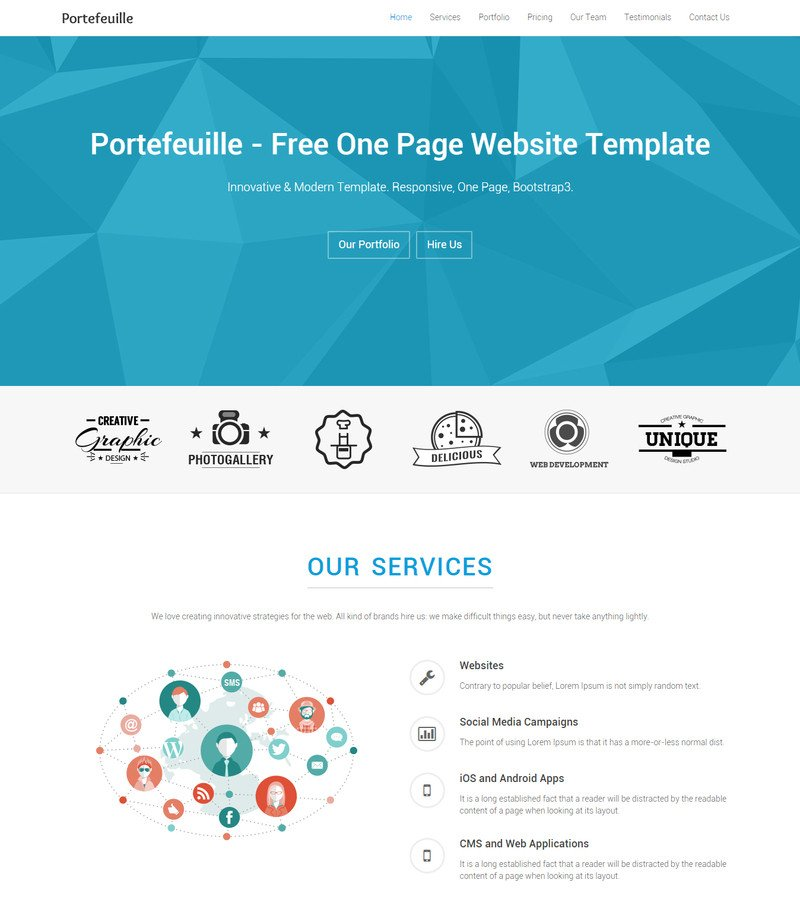 One Page Template Free 10 Best Free Website HTML5 Templates May 2015