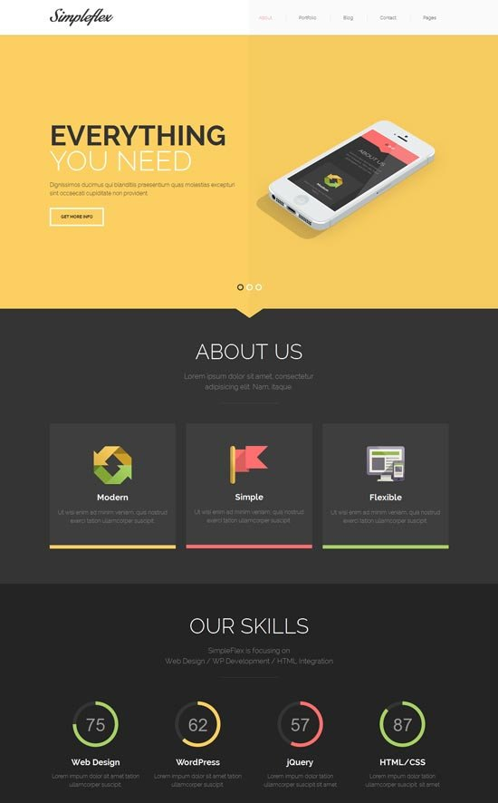 One Page Template Free 70 Best E Page Website Templates Free & Premium