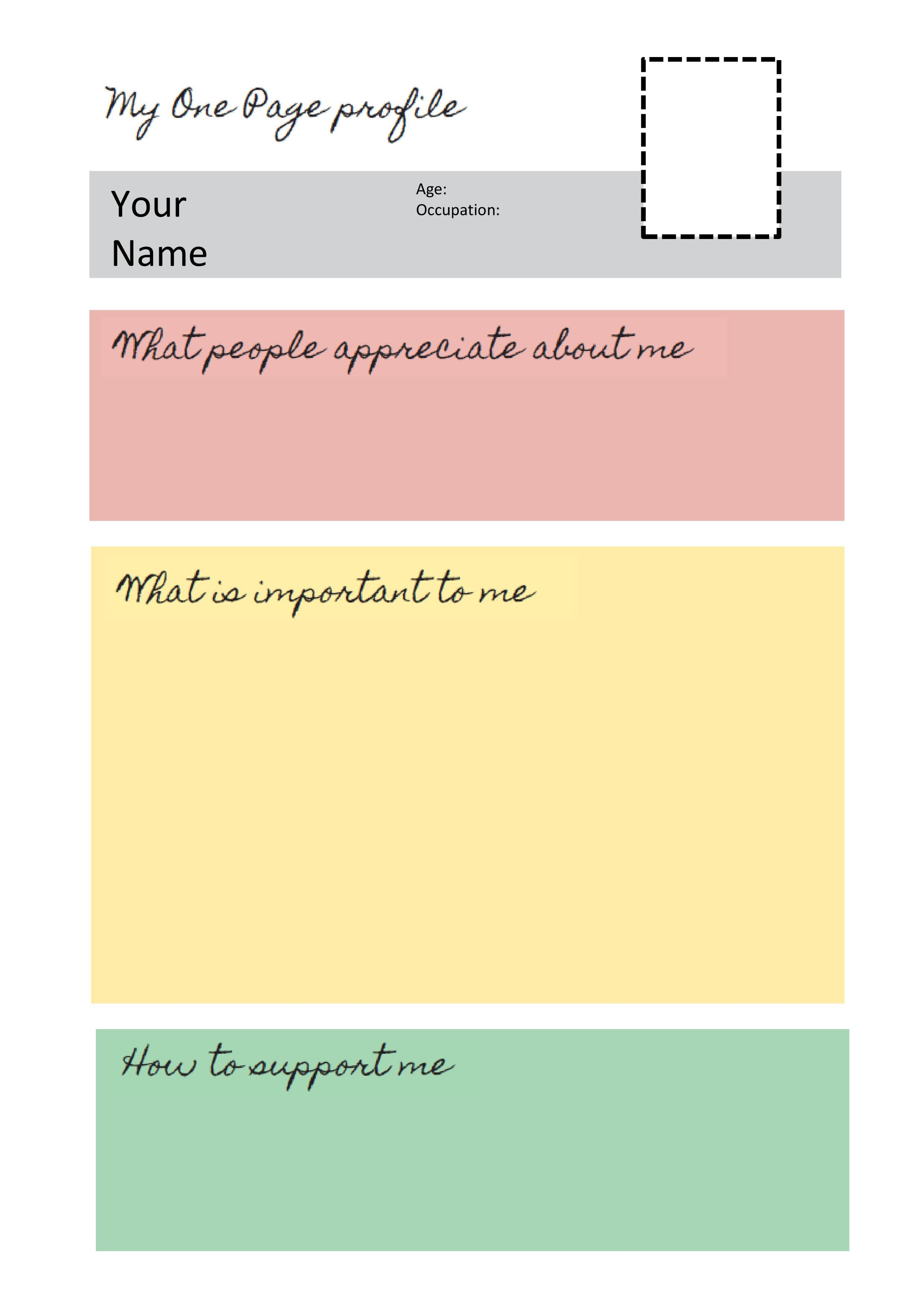 One Page Template Free E Page Profile Templates Helen Sanderson associates