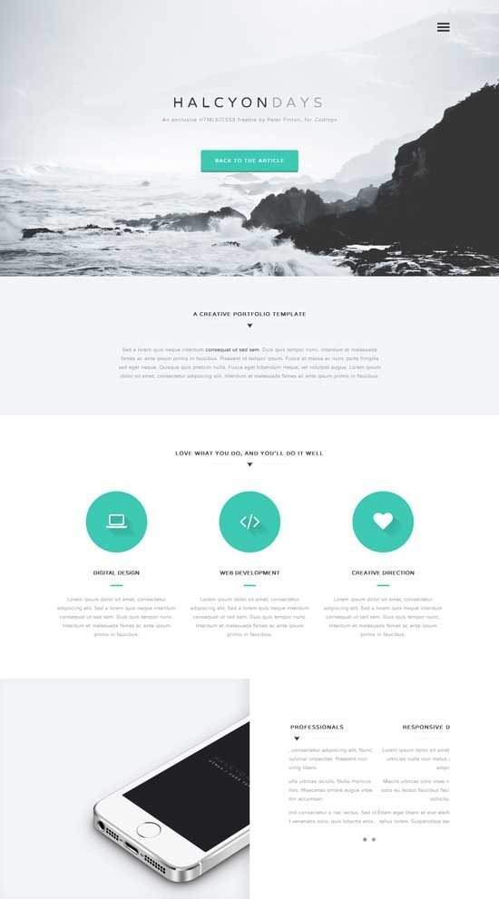 One Page Template Free E Page Website Template
