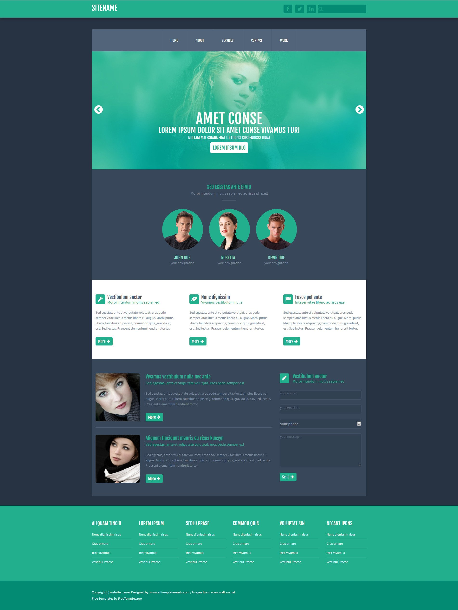 One Page Template Free Free E Page Website HTML Template