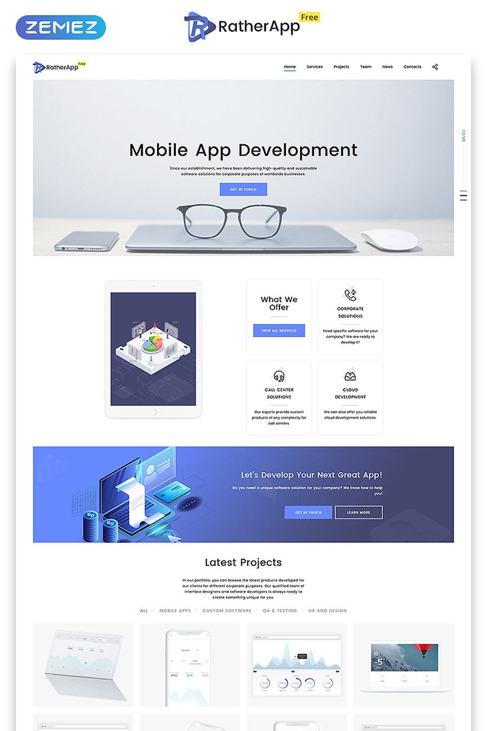 One Page Template Free Free HTML5 Single Page theme