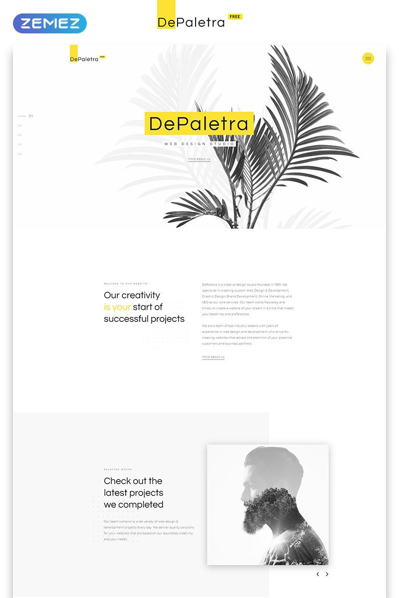 One Page Template Free Free Single Page Website Template In Flat Design