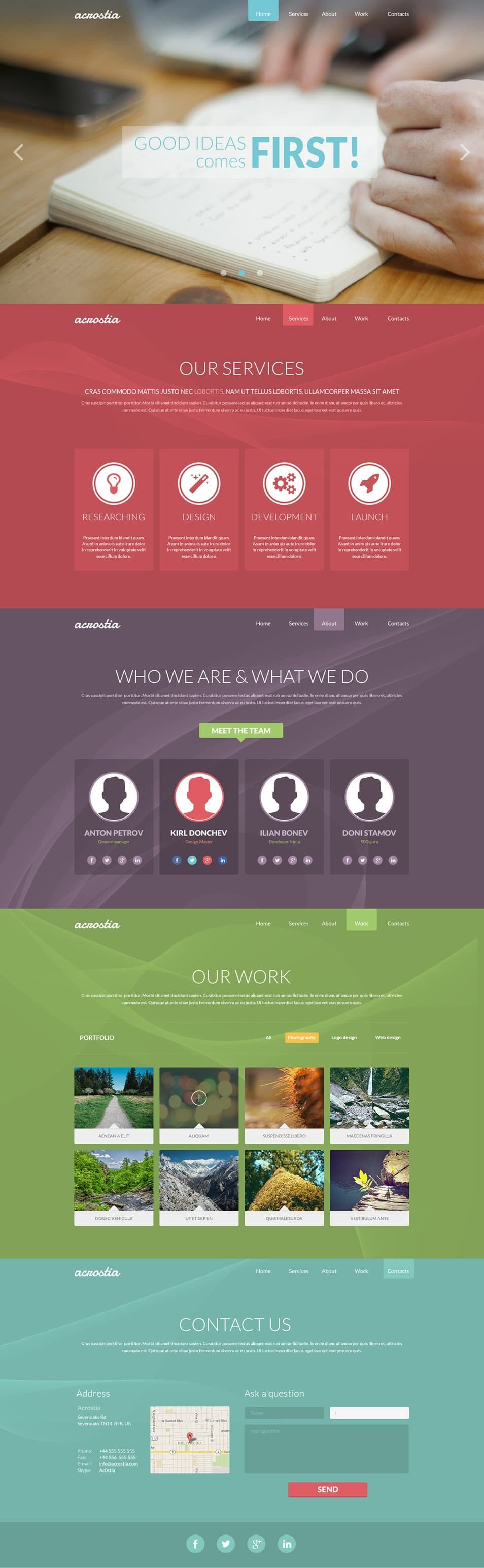 One Page Template Free Free Single Page Website Templates Psd Css Author