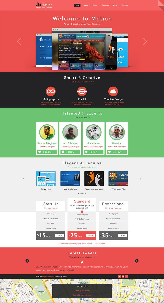 One Page Template Free Motion Single Page Psd Web Template for Free by Begha On