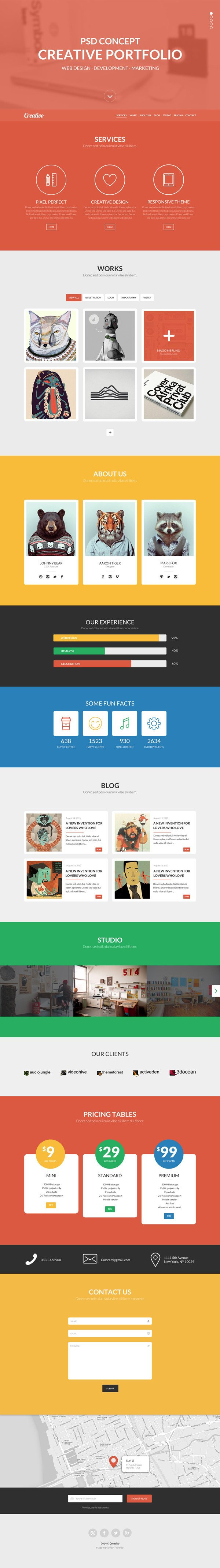 One Page Template Free Psd Templates 20 E Page Free Web Templates