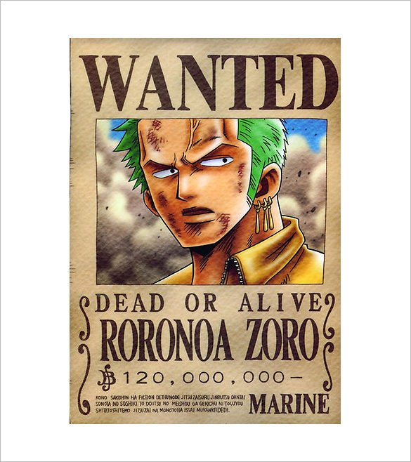 One Piece Wanted Posters 11 E Piece Wanted Poster Templates Free Printable