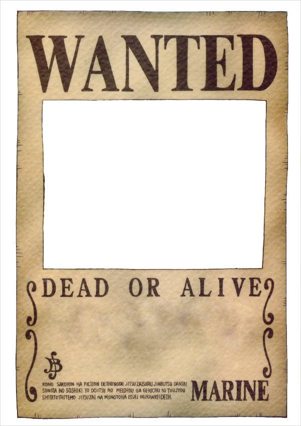 One Piece Wanted Posters 18 Wanted Poster Design Templates In Psd