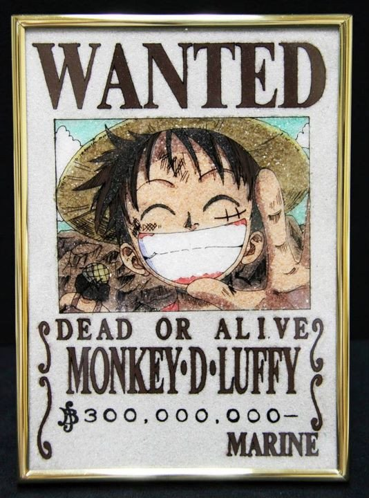 One Piece Wanted Posters E Piece Crystal Wanted Posters
