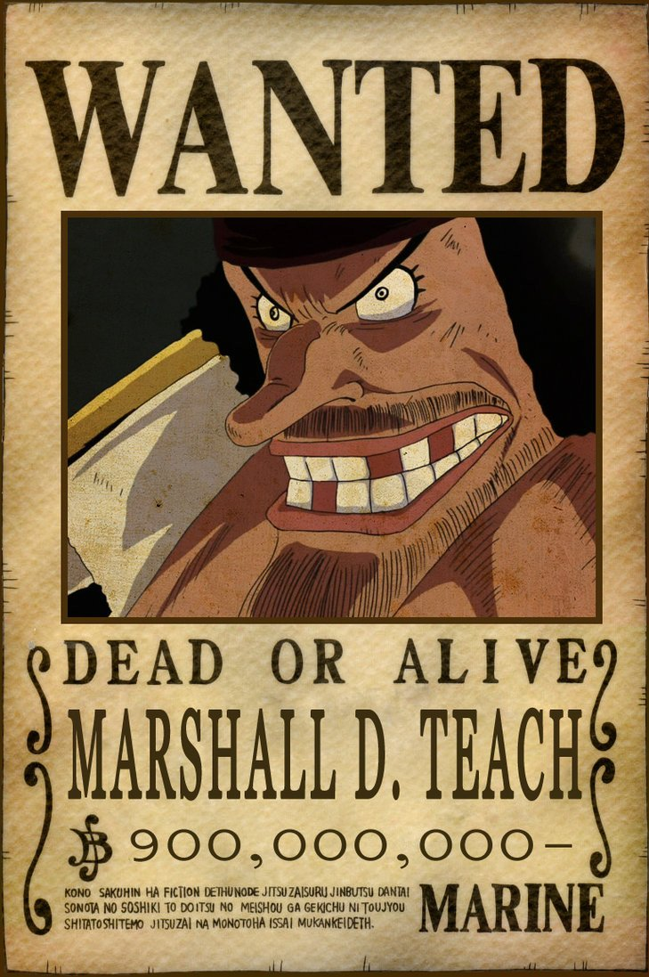 One Piece Wanted Posters E Piece Wanted Poster Whitebeard