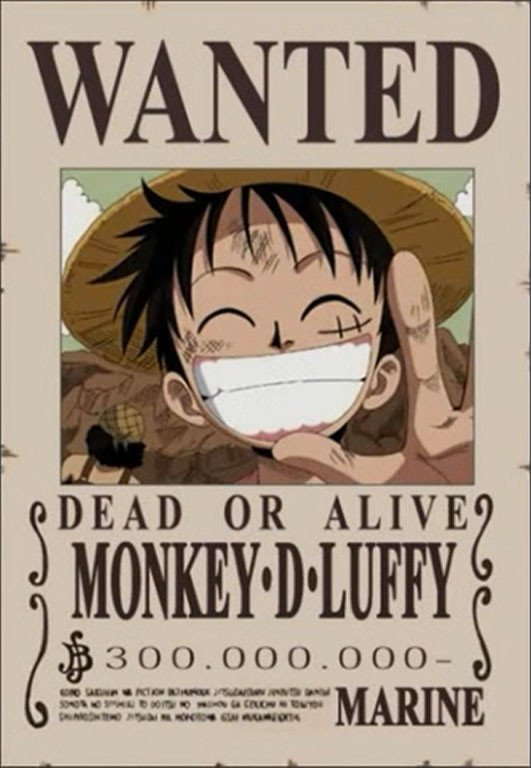 One Piece Wanted Posters Free Famous Cartoon E Piece Straw Hat