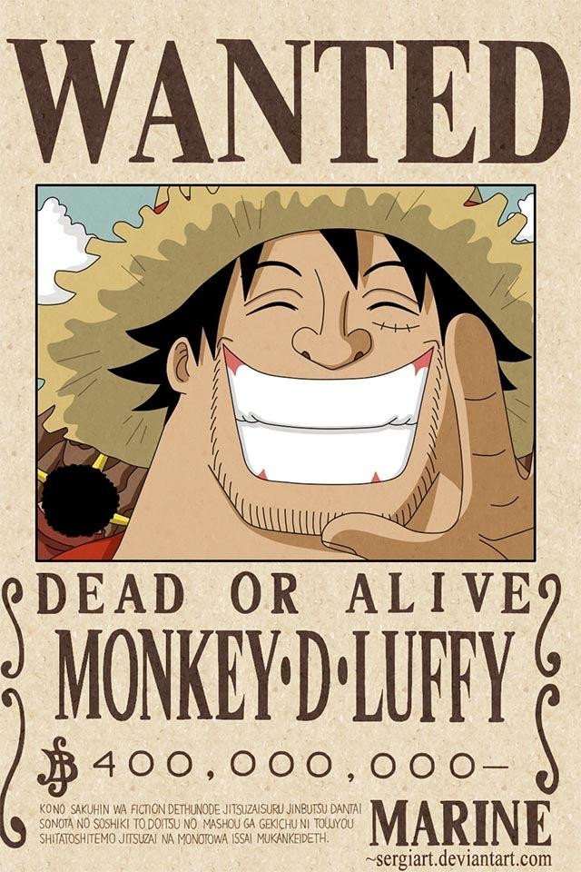 One Piece Wanted Posters Luffy S Latest Wanted Poster Epiece