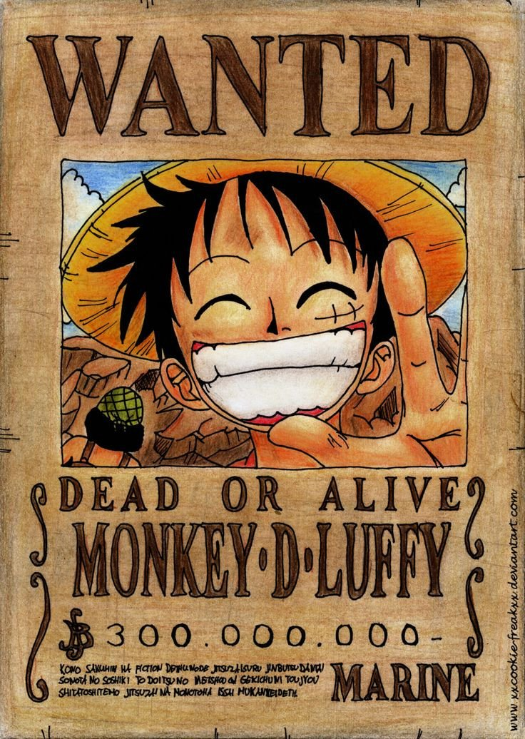 One Piece Wanted Posters Luffy Wanted Poster Wallpaper Anime E Manga