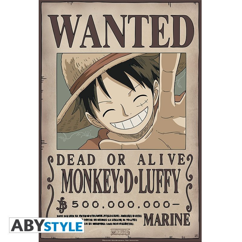 One Piece Wanted Posters One Piece Portfolio 9 Posters Wanted Abystyle