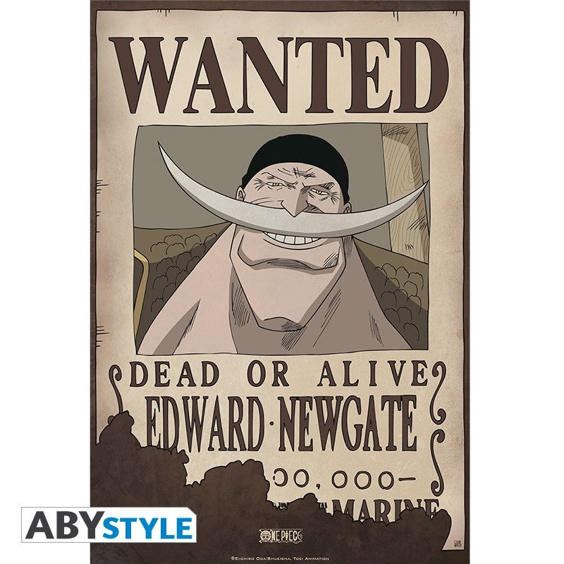 One Piece Wanted Posters One Piece Poster Wanted Edward Newgate 52x35cm Abystyle