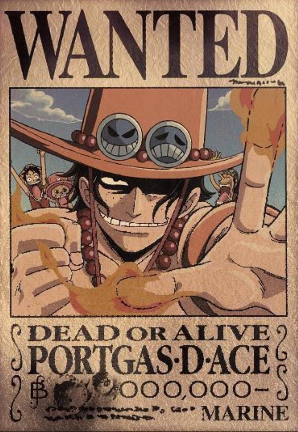 One Piece Wanted Posters Tattoo original Wallpaper E Piece Wanted
