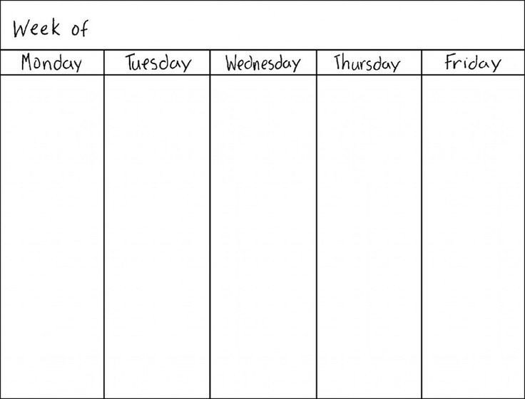 One Week Schedule Template Best 25 Weekly Calendar Template Ideas On Pinterest