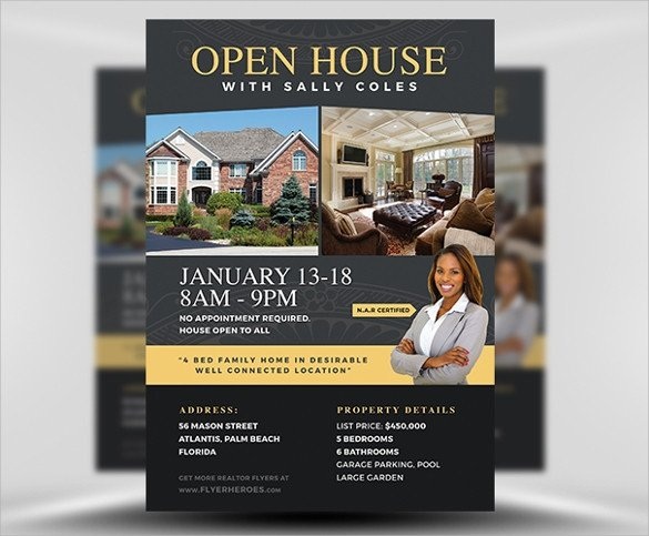 Open House Flyer Template Word 23 Open House Flyers Word Ai Psd Eps Vector