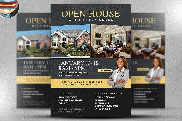 Open House Flyer Template Word 28 Open House Flyer Designs Psd Word Eps Download
