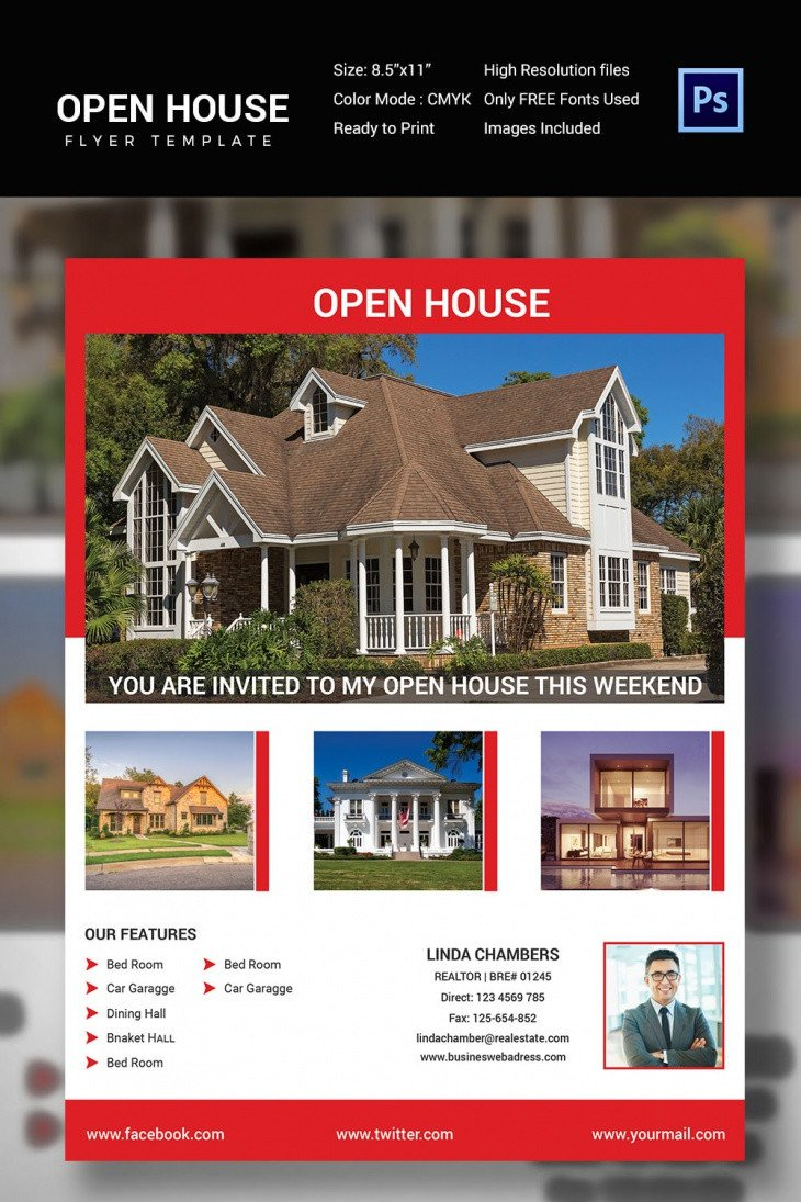 Open House Flyer Template Word 30 Open House Flyers Printable Psd Ai Word Eps