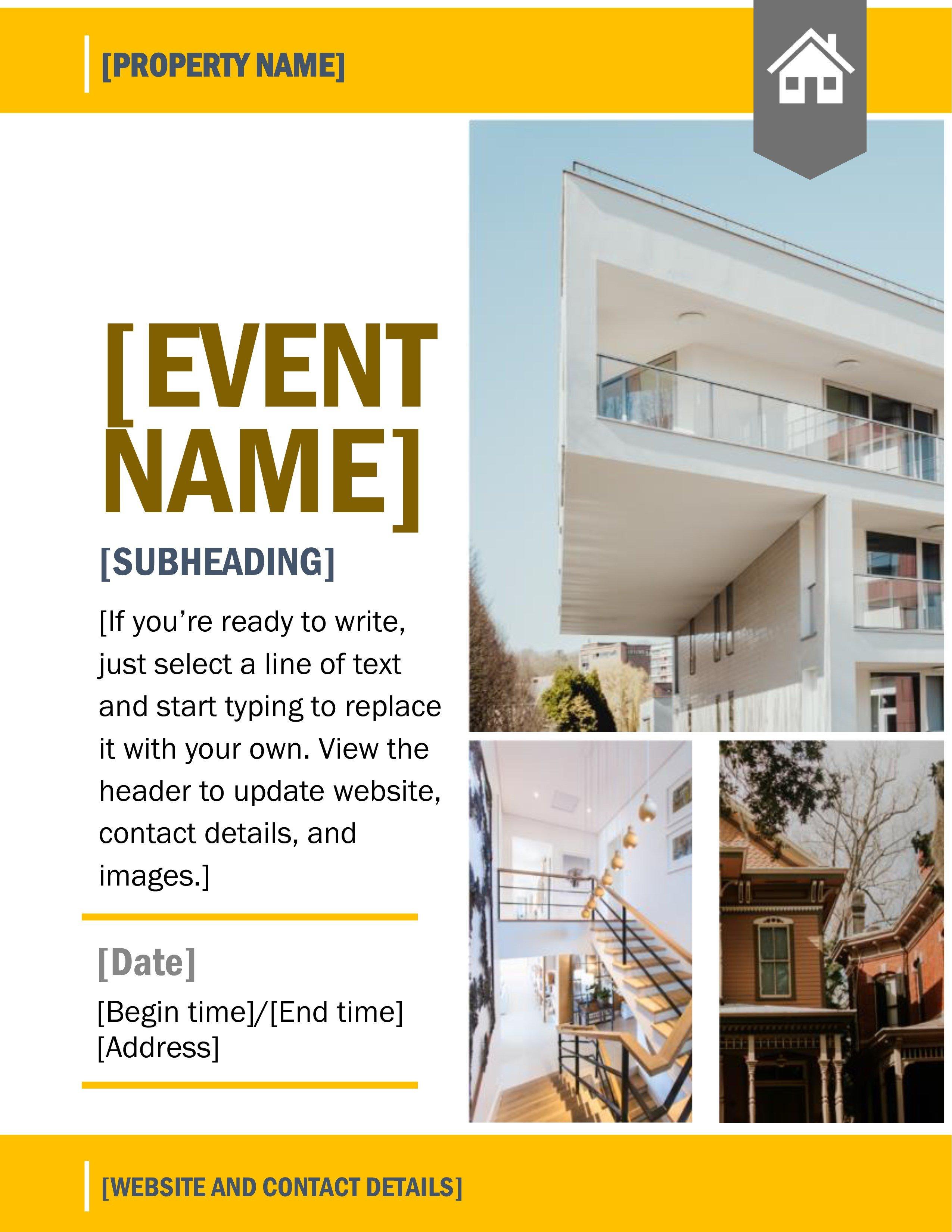 Open House Flyer Template Word Flyers Fice