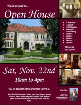 Open House Flyer Template Word Free Open House Flyer Template – to View & Download