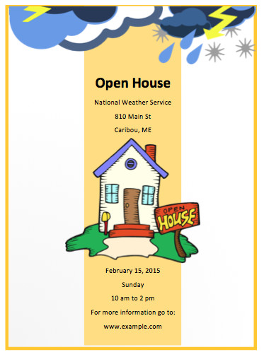 Open House Flyer Template Word Open House Flyer Template Free Flyer Templates