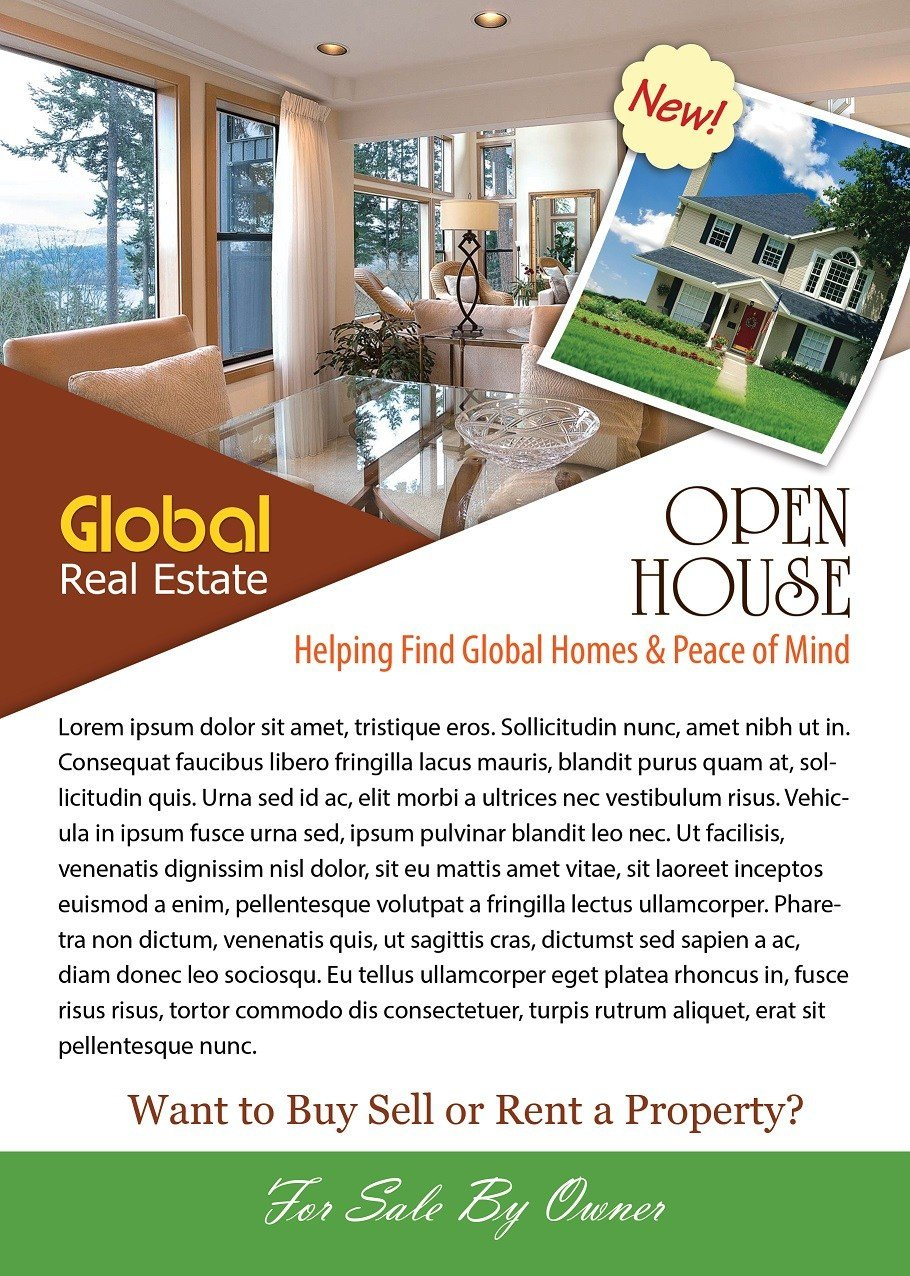 Open House Flyer Template Word Open House Flyer Template Shop Version Free Flyer